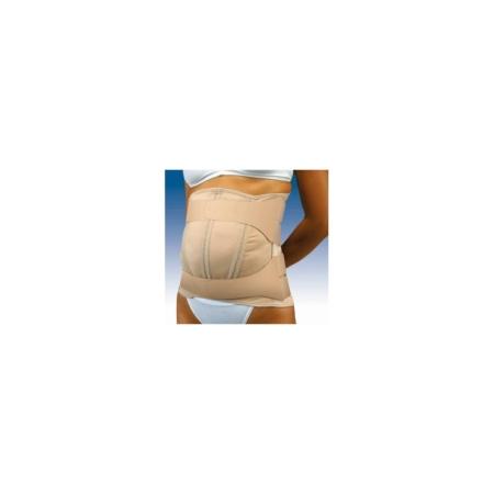 Faja sacrolumbar semirrígida abdomen péndulo con cierres de velcro