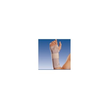 Muñequera elástica abierta larga con férula para la mano izquierda