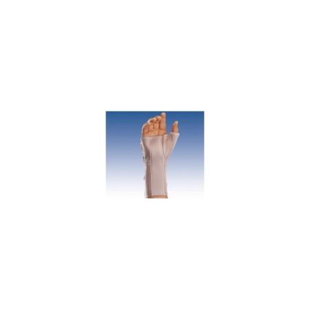 Muñequera elástica abierta larga con férula palmar y pulgar para la mano derecha