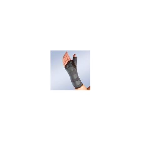 Muñequera semirrígida inmovilizadora larga con férula de pulgar para la mano izquierda