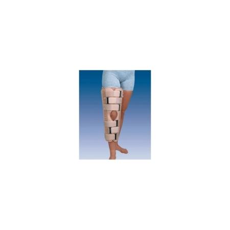 Ortesis corta inmovilizadora de rodilla de tres paneles a 0º