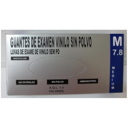 Guantes Vinilo sin polvo 100uds