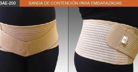 Banda de contención de embarazada