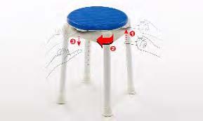 Taburete giratorio con patas regulables