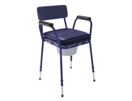 Banqueta clásica azul con patas regulables