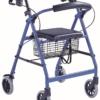 Andador 4 ruedas y freno cable (aluminio)