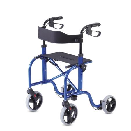 Andador 4 ruedas y freno cable (acero)